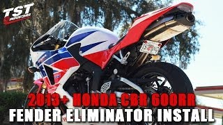 How to Honda CBR 600RR: 2013 2014 Fender Eliminator Installation