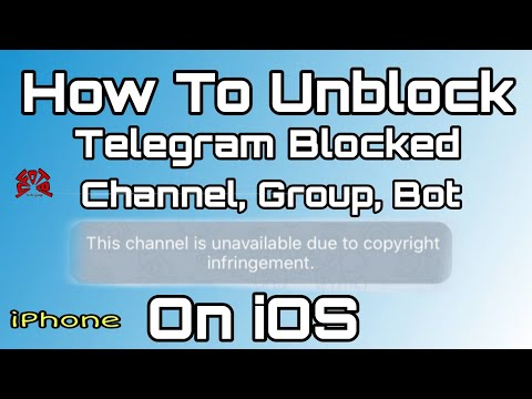 Bypass Blocked Telegram Channel Group And Bot In iOS | iphone - YouTube