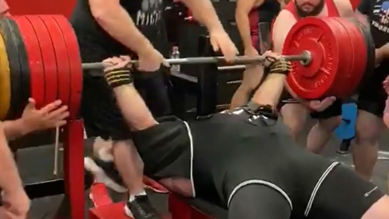 Equipped World Record Bench Press 1 105 Lbs Will Barotti Youtube