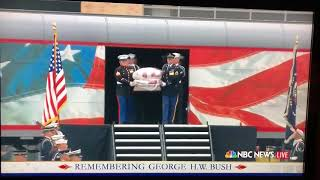 George H.W. Bush train procession