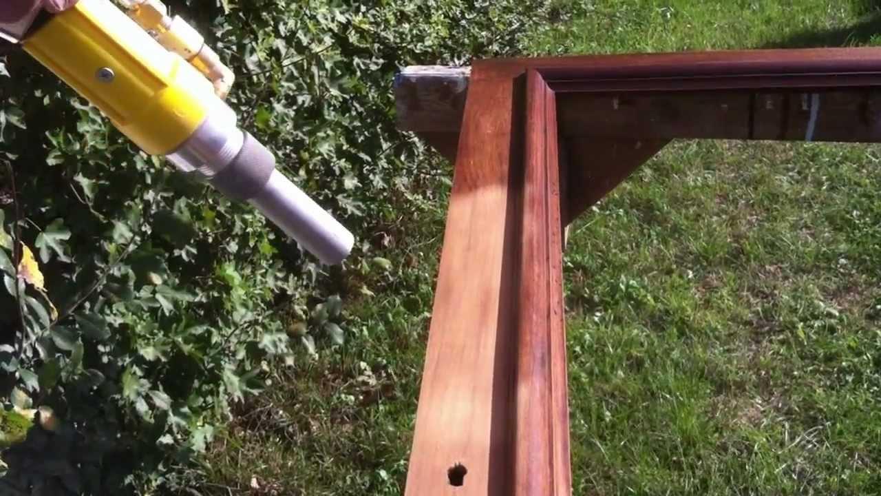 Décapage bois par aérogommage (H2ODECAP) Doovi # Aérogommage Bois Location