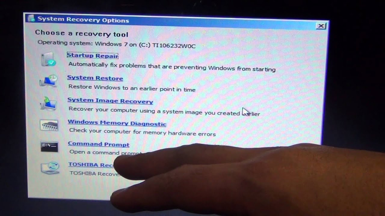Toshiba factory reload C655D-s5300 Restore fix Slow infected Toshiba