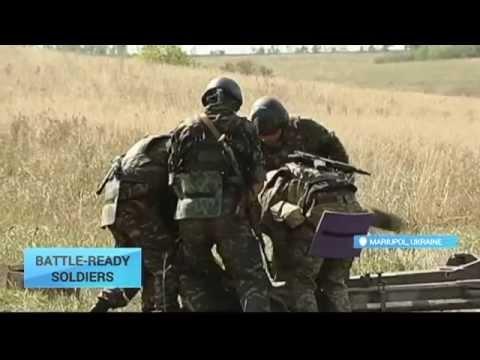 Battle-Ready Soldiers: Ukrainian troops stand on guard near Mariupol in spite of lull in fighting