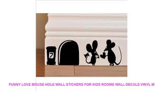 [851.43 KB] Funny Love Mouse Hole Wall Stickers For Kids Rooms Wall decals vinyl M