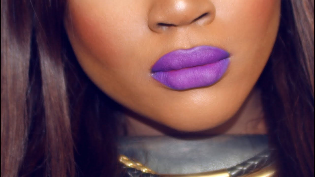 Shade Of Purple beauty hack | how to create any shade of purple lipstick