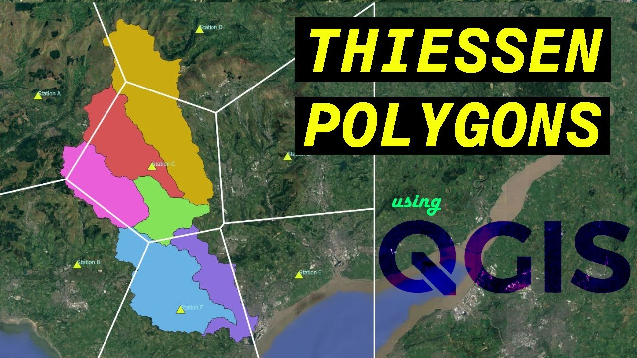 Analyzing the Areas of Influence with Thiessen Polygons using QGIS