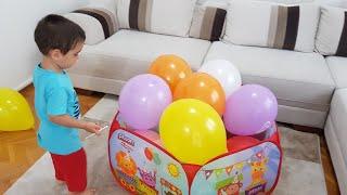 Buğra Balonları Patlattı Berat Ağladı. Eğlenceli Çocuk Videosu