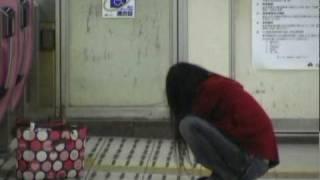 drunk Japanese ShinImamiya JR station.avi
