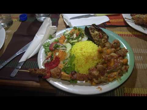 Dinner at Vegan Restaurant in Cotonou Benin - Roots Tour Nov 2017