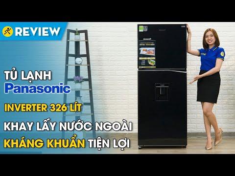 Tủ lạnh Panasonic Inverter 326 lít: lấy nước lạnh không cần mở tủ (NR-BL351WKVN) • Điện máy XANH