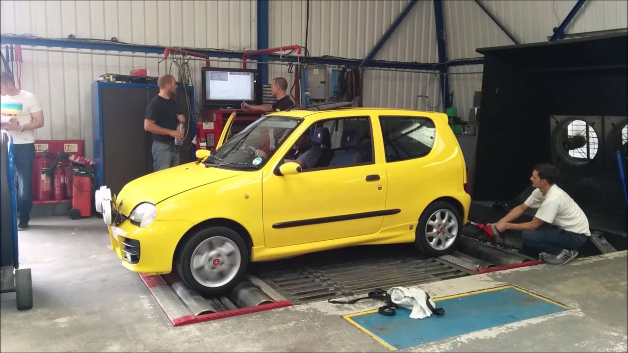 fiat seicento sporting abarth dyno run youtube. Black Bedroom Furniture Sets. Home Design Ideas
