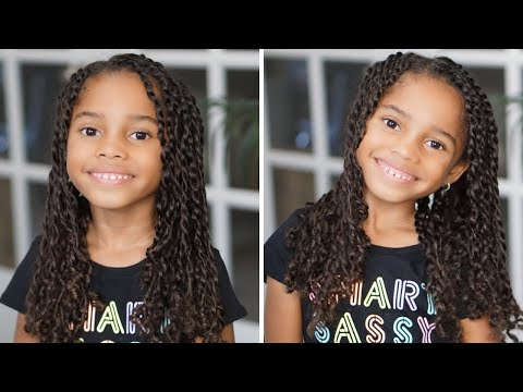 Natural Hair Two Strand Twist Hairstyles For Little Girls Youtube