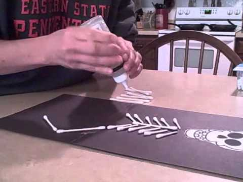 How To Make A Q Tip Skeleton For Halloween
