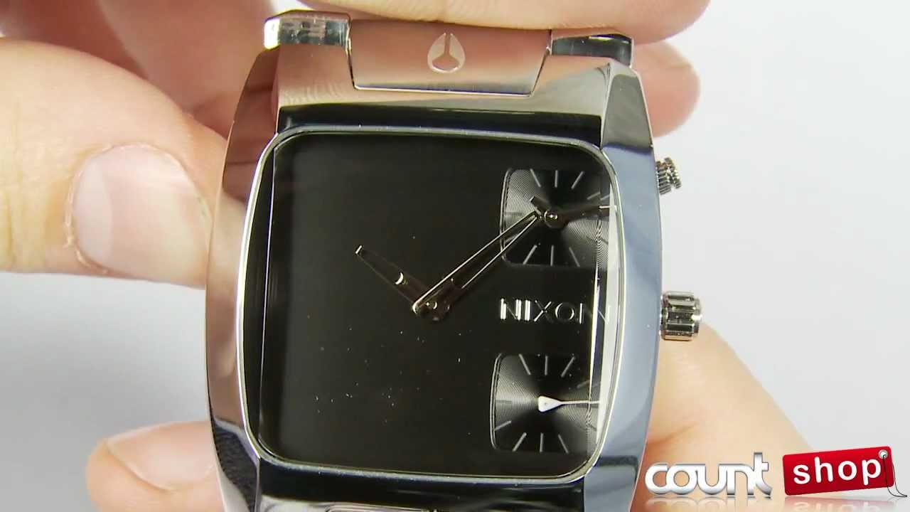 cf4ed138533 Nixon A060 BANKS Black - review by DiscountShop.com - YouTube