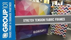 Stretch Tension Fabric Frames Dye Sublimation Printed with Kader Silicon Edge