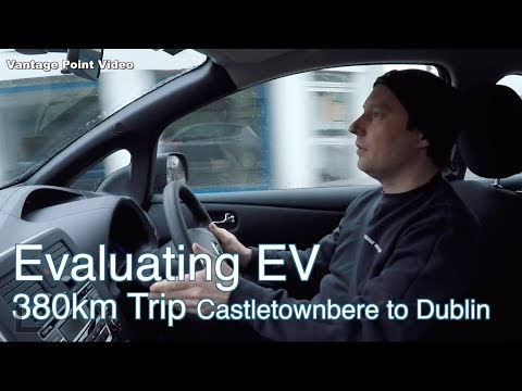 380km Trip 30kw Nissan Leaf Castletownbere to Dublin before Lunch