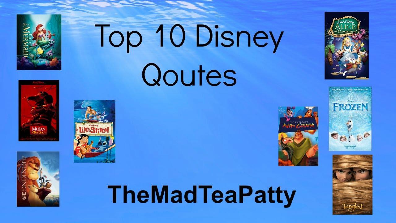 Top 10 Disney Quotes Youtube