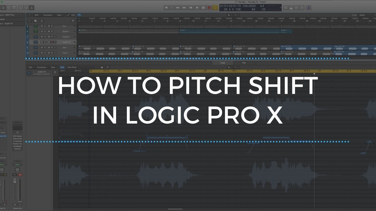 How To Pitch Shift In Logic Pro X Tutorial