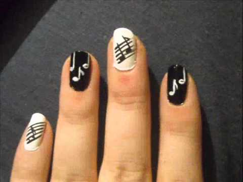 - Musical Notes Nail Art - YouTube