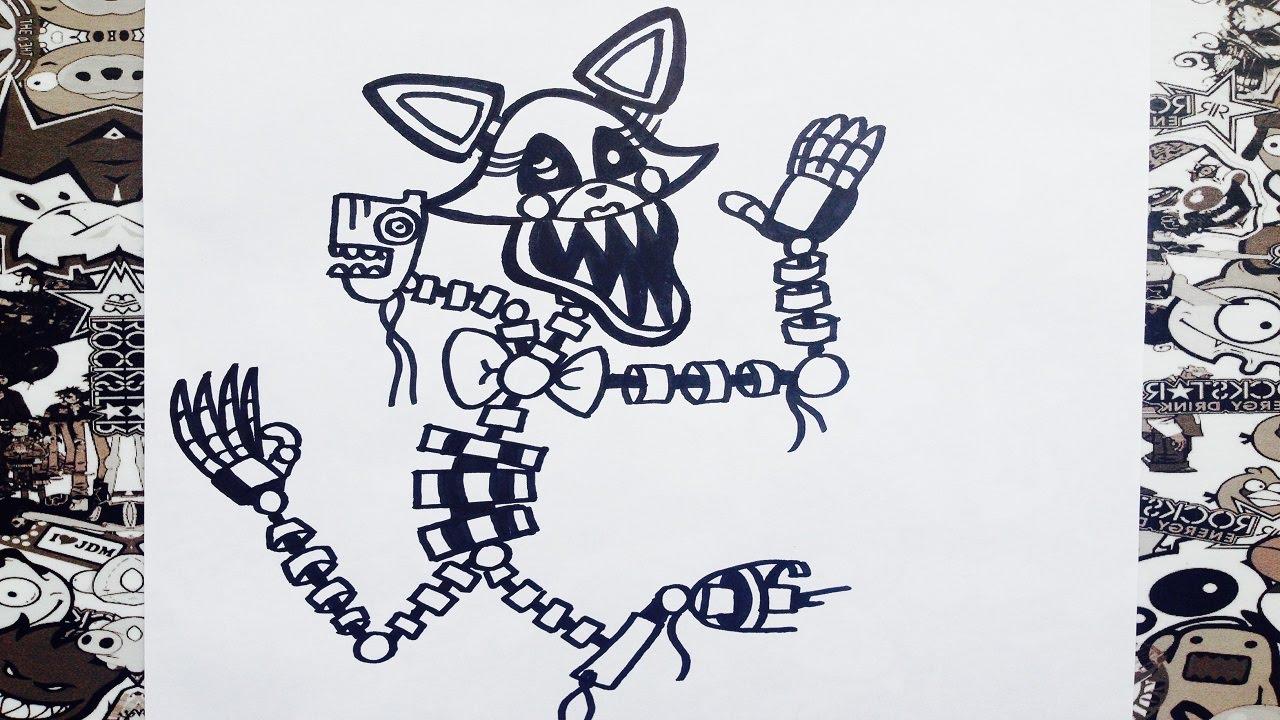 Como dibujar a mangle de five night at freddys  how to draw