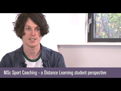 MSc Sport Coaching - a Distance Learning student perspective