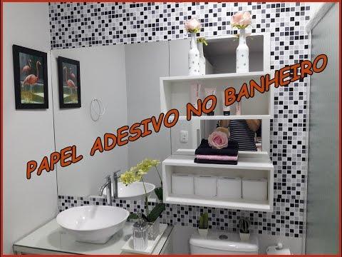 Papel adesivo no banheiro youtube - Papel vinilico para paredes ...