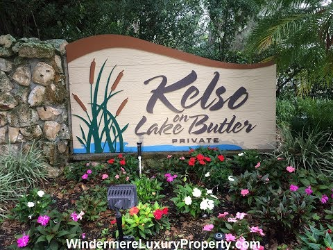 Kelso On Lake Butler Lakefront Homes On Lake Butler In Windermere Florida