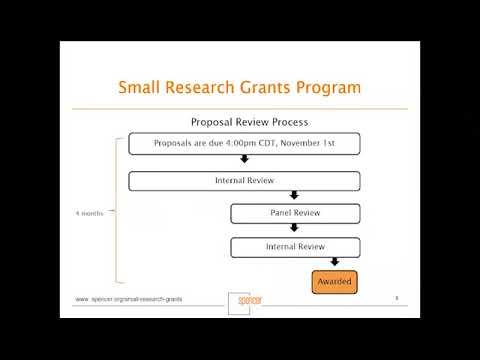 Small Research Grants Webinar 2017