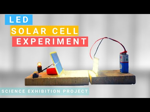 Free Energy Solar Cell 100% How To Make Free Energy Using LED | Science school project