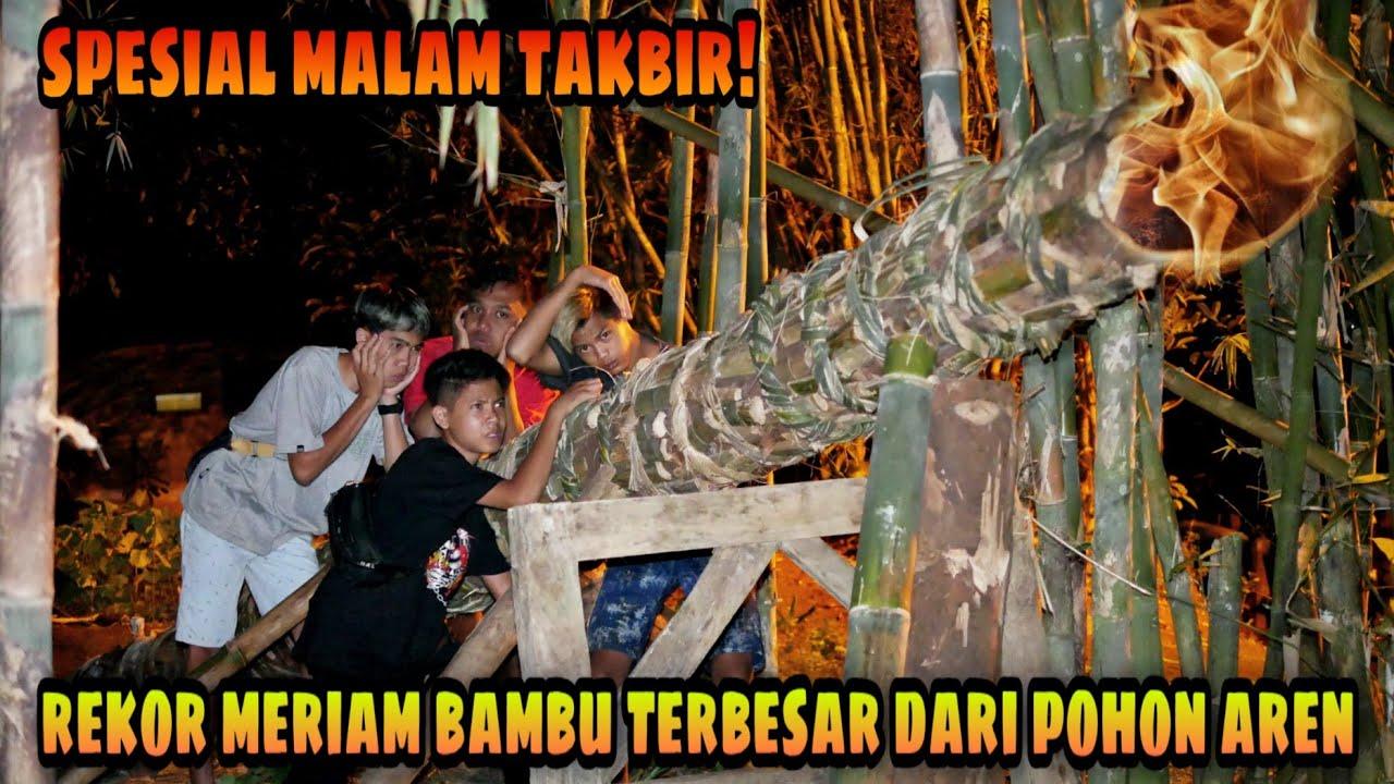 Menggelegar! Lodong/Meriam Bambu Raksasa bikin Geger Warga Satu Desa