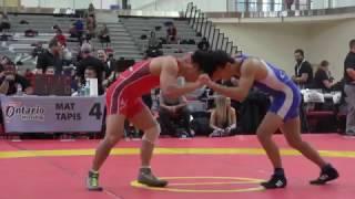 2017 Guelph Open FS57kg Ligrit Sadiku (Brock) vs Taiki Arinobu (Japan)