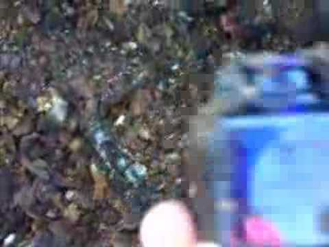 Encrier cobalt bleu creusé dans une dompe!!