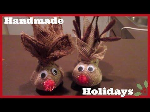 Handmade Holidays: Burlap Reindeer Kid's Craft & Gift Idea! beingmommywithstyle