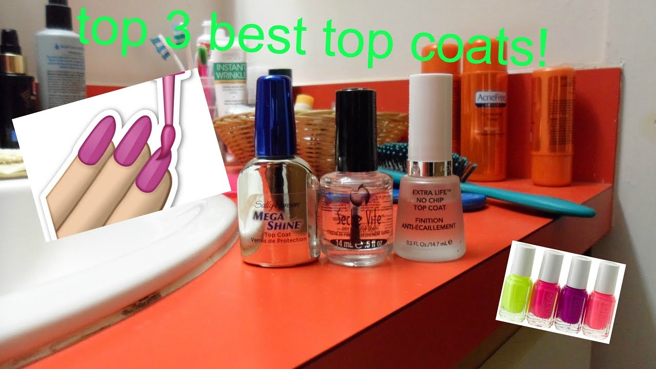 Top 3 Best Top Coats For Your Nails Youtube