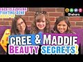 Cree Cicchino & Madisyn Shipman Face Cleaning & Anti-Acne Beauty Secrets On-Set at Game Shakers