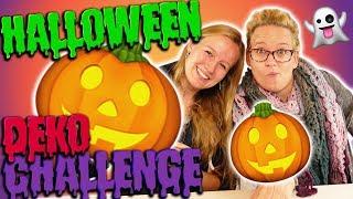 Halloween DEKO DIY CHALLENGE mit Eva & Kathi | Wer bastelt Halloweendeko in 10 Minuten? Inspiration
