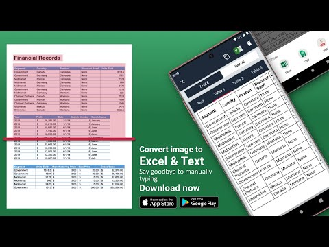 Document Scanner Ocr Convert Image To Excel Text Apps On Google Play