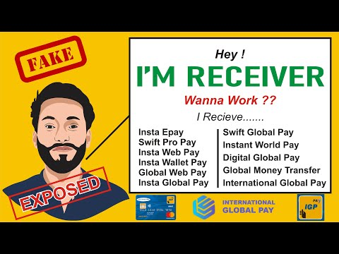 Reality of Receivers for Global Pay Websites | Insta Global Pay | IGP | Scam