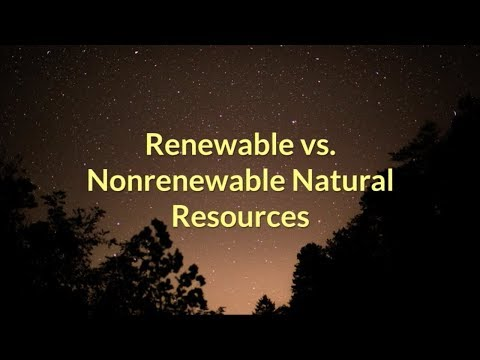 Renewable vs  Nonrenewable Natural Resources