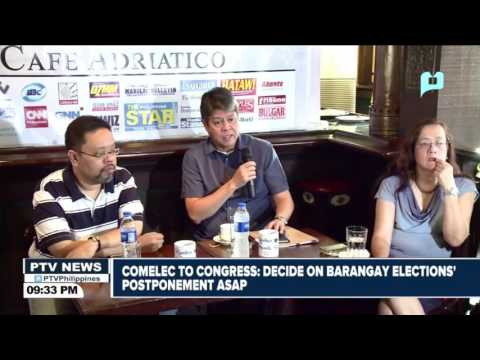 COMELEC to Congress: Decide on Brgy Elections' postponement as soon as possible