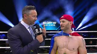 GLORY 67: Elvis Gashi Post-Fight Interview