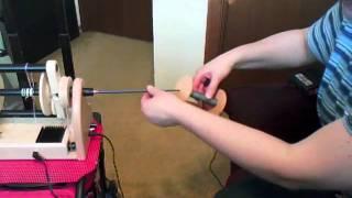 Hansen MiniSpinner Quill demonstration 0001