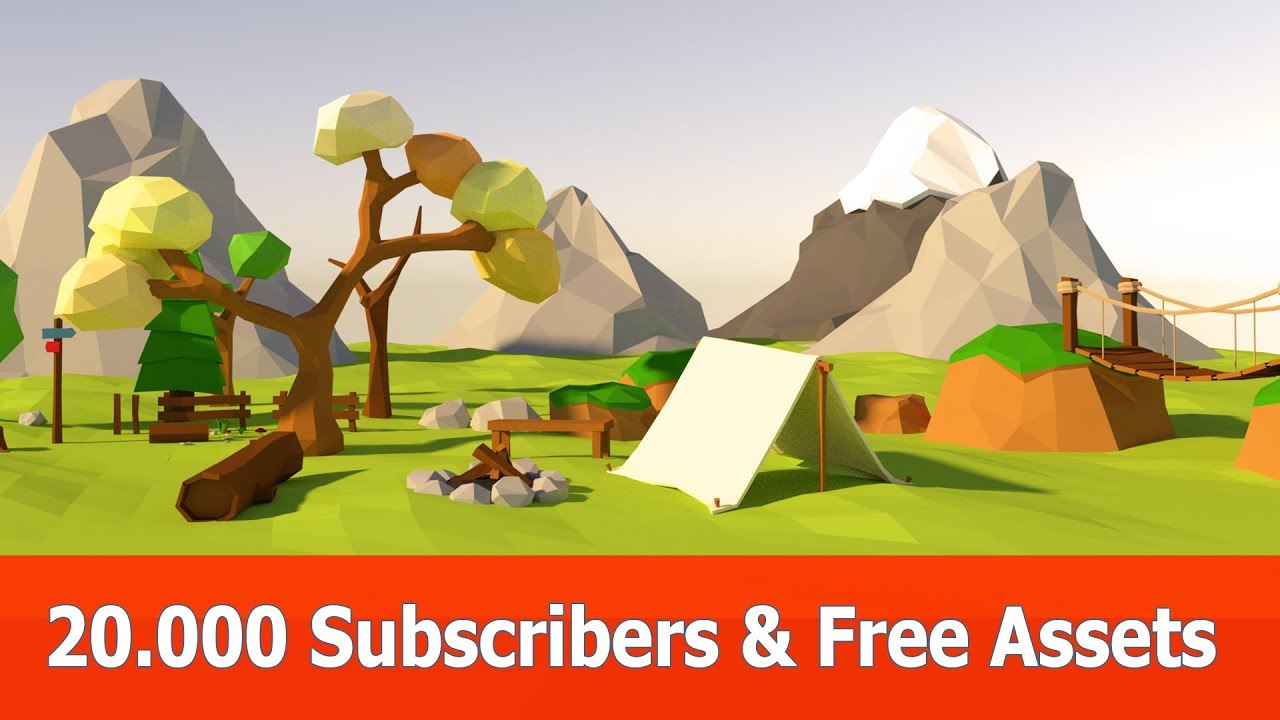20000 Subscribers : Free Game Assets (Blender, Unity & Unreal Engine)