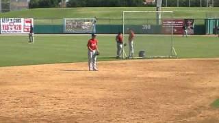 Pete Kozma Arizona Fall League Infield Practice 10/15/10