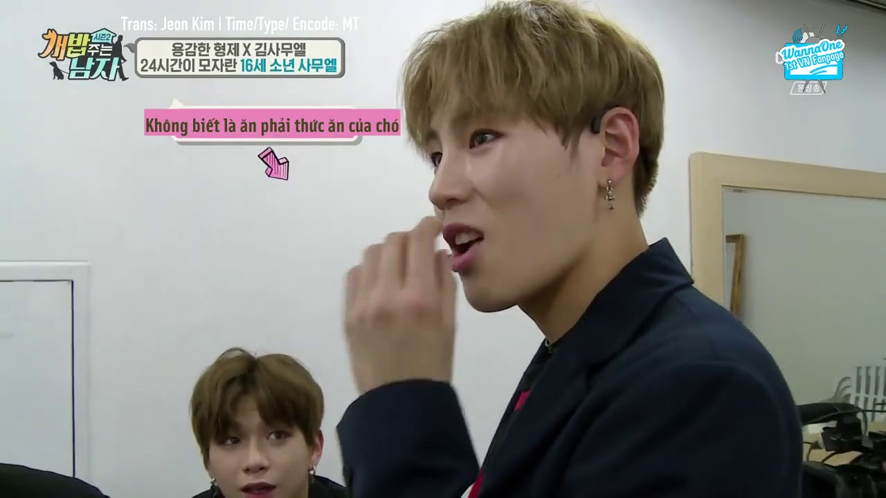 VIETSUB 170916 Wanna One & Samuel A Man Who Feed the Dogs Cut