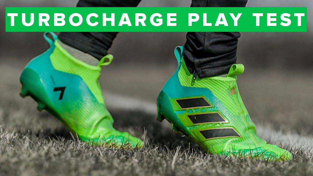 new concept ec635 4e41e GREEN PURECONTROL PLAY TEST | adidas ACE17+ Turbocharge