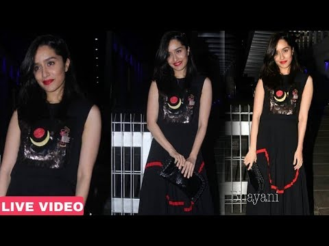 Shraddha Kapoor Spotted after Celebrate Birthday Party of Padmini Kolhapure | Full Video