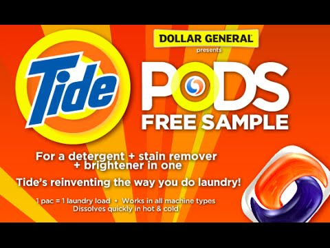 Got a Tide Pods Sample – Sample the NEW Tide Laundry Pods! - YouTube