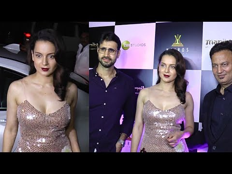 Kangana Ranaut With Team At The Wrap Up Party Of Manikarnika Movie - HUNGAMA