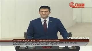 CHP İZMİR MİLLETVEKİLİ MEHMET ALİ ÇELEBİ MECLİS KONUŞMASI-15 ARALIK 2018